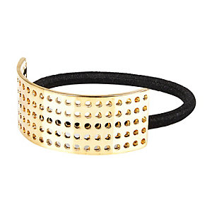 Girls gold tone hair band cover up
