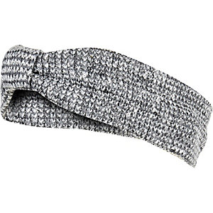 Girls grey sequin hair band