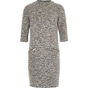 Girls grey cocoon dress