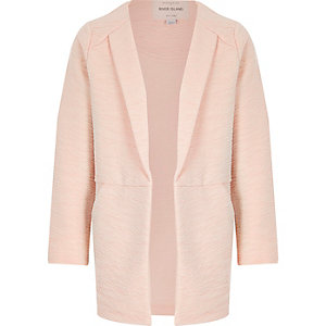 Girls pink textured blazer