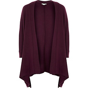 Girls dark red soft cardigan