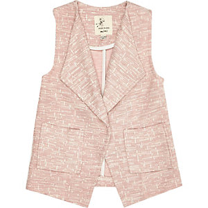 Mini girls pink sleeveless jacket
