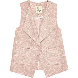Mini girls pink sleeveless jacket