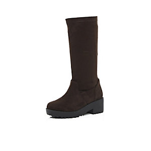 Girls brown long boots