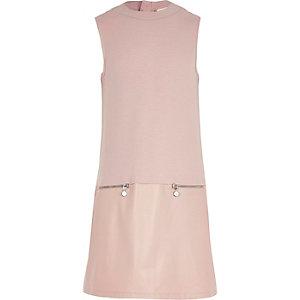 Girls pink A line shift dress