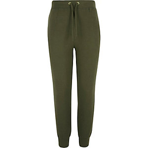 Girls khaki super soft joggers