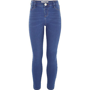 Girls bright blue Molly jeggings
