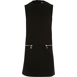 Girls black A-line shift dress