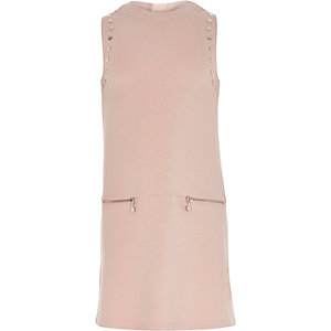 Girls pink A-line dress