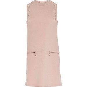 Girls pink A-line dress