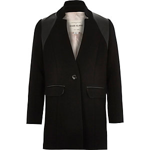 Girls black smart tailored jacket
