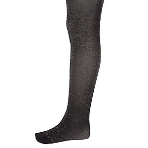 Girls black sparkly tights