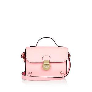Girls pink cross body handbag