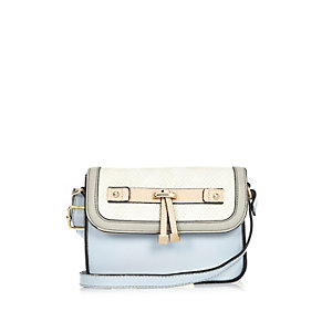 Girls blue cross body handbag