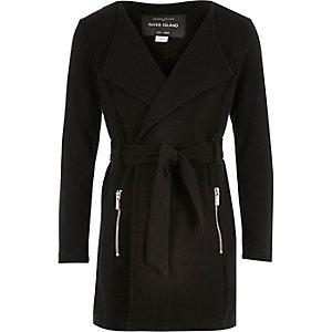 Girls black belted jacket