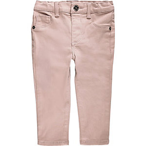 Mini girls pink skinny jeans