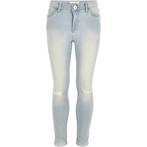 Girls light wash Amelie superskinny jeans
