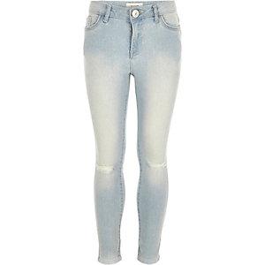 Girls light wash Amelie superskinny jeans