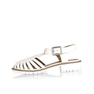 Girls white strappy sandals