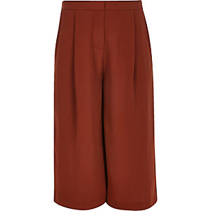 Girls rust brown long culottes
