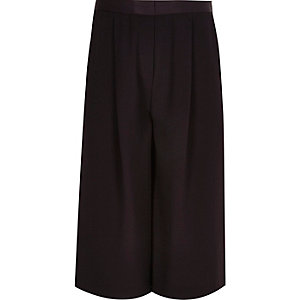 Girls dark purple long culottes