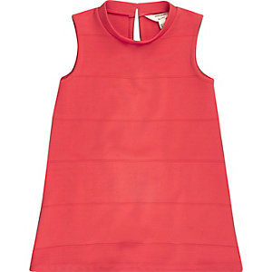 Mini girls red shift dress