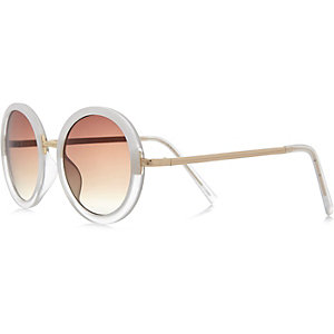 Girls clear round sunglasses