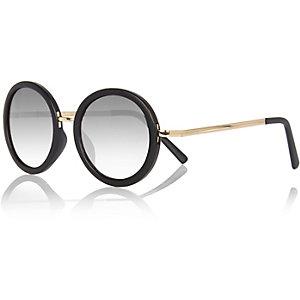 Girls black round sunglasses