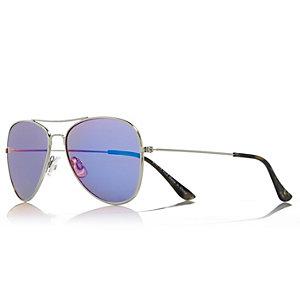 Girls blue mirrored aviator sunglasses