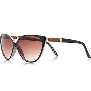 Girls navy cat eye sunglasses
