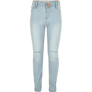 Girls light wash Molly jeggings