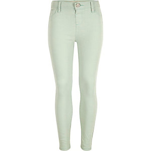 Girls light green Molly jeggings