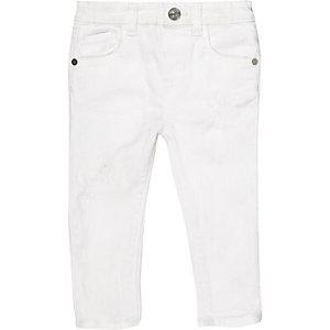 Weiße Skinny Jeans für Mädchen