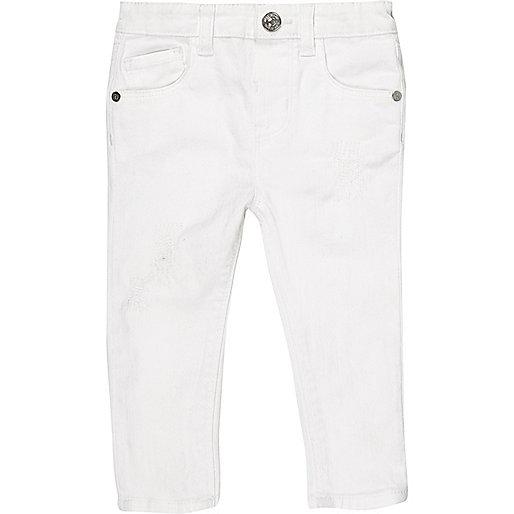 Mini girls white skinny jeans