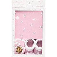 Mini girls light pink Penguin gift set