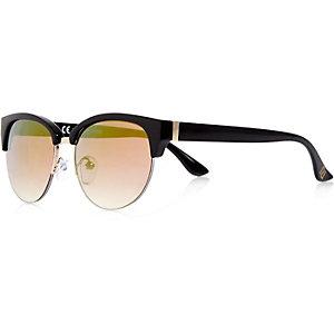 Girls black clubmaster-style sunglasses