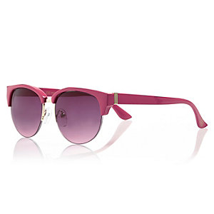 Girls pink clubmaster-style sunglasses