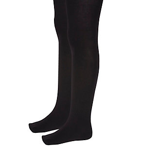 Girls black tights pack