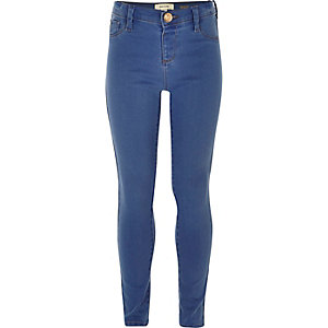 Girls mid wash blue Molly jeggings