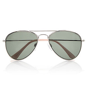 Girls green aviator-style sunglasses
