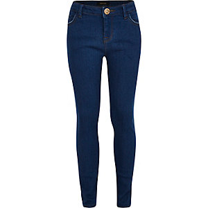 Girls blue Amelie superskinny jeans