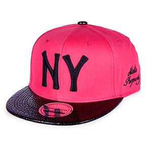 Girls pink NY trucker cap