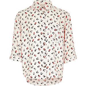 Girls pink ladybird print t-shirt