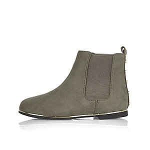 Mini girls grey Chelsea boots