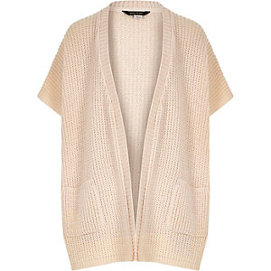 Girls light pink knitted cardigan