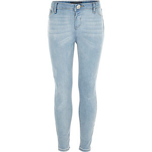 Girls light blue Amelie superskinny jean