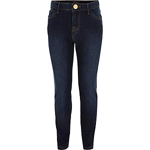Girls dark wash Amelie superskinny jeans