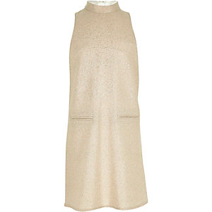 Girls gold sparkly shift dress