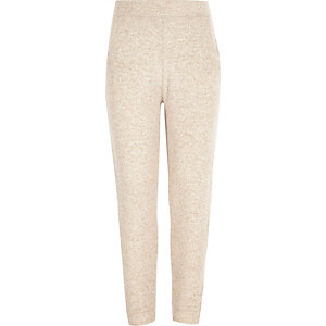 Girls camel joggers