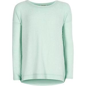 Girls green slouchy top